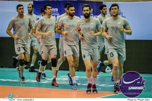 تمرینی شاداب از ملی پوشان ایران