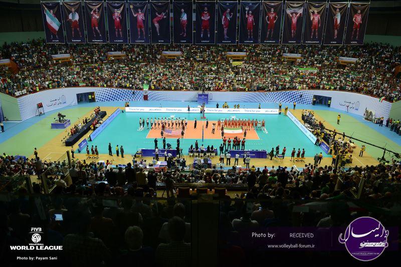 پیش بازی والیبال ایران - آمریکا (ویدیو)