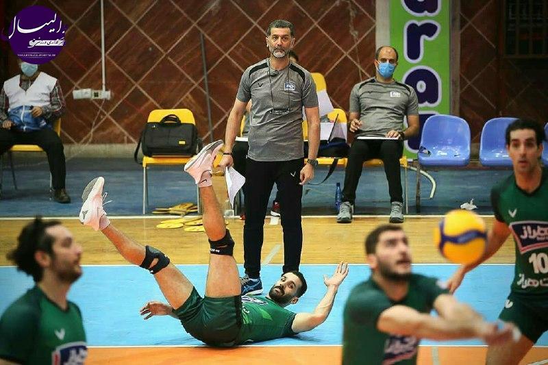 گزارش تصویری دیدار تیم های والیبال هراز آمل 3-0 پیکان تهران
