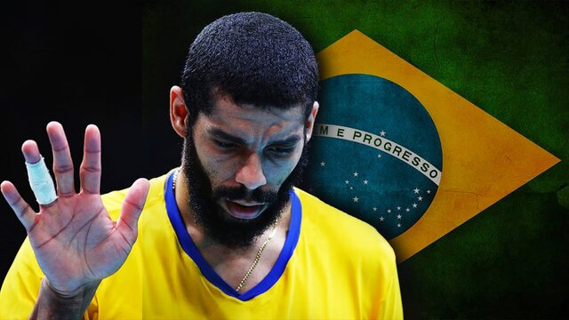 بازگشت ستاره والیبال برزیل به لیگ کشورش