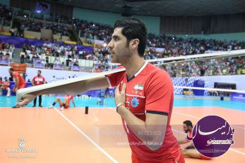 شهرام محمودی امتیازآورترین بازیکن دیدار نخست ایران و لهستان شد