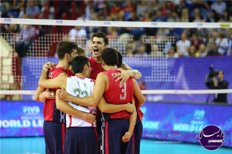 روسیه 1-3 آمریکا ؛ آمریکا در یک قدمی صعود به مرحله نهایی