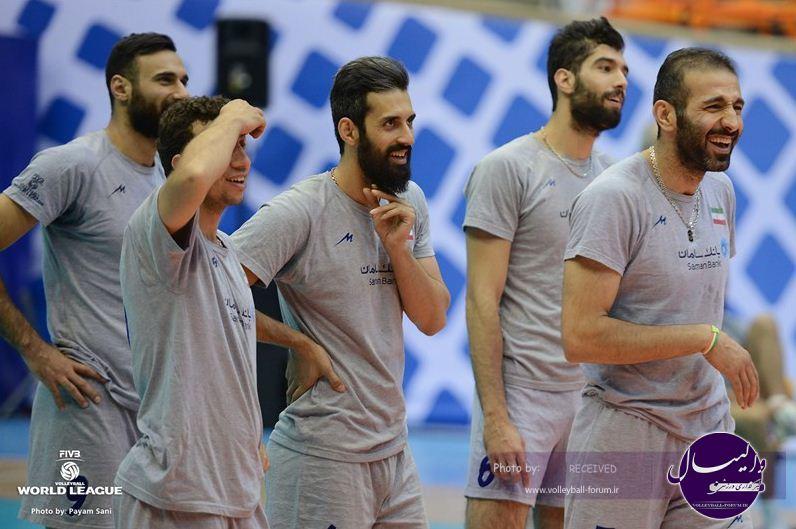گزارش تصویری تمرین ملی پوشان ایران پش از بازی با روسیه