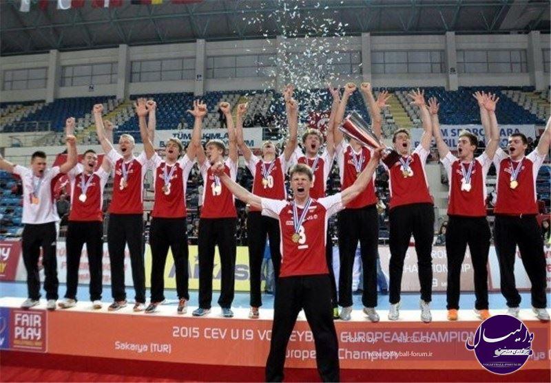 لهستان قهرمان مسابقات والیبال نوجوانان اروپا شد