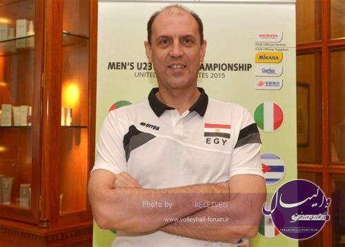 سرمربی مصر: خوشحالم برابر ایران به ست پنجم رسیدیم