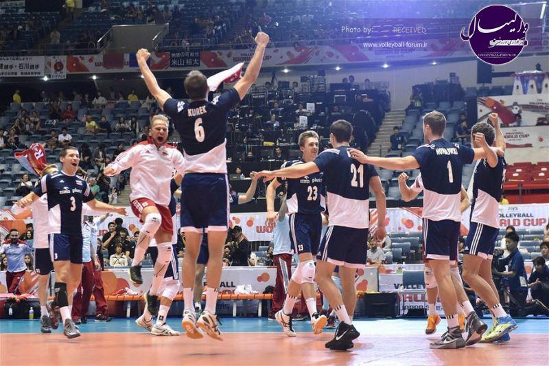 شاگردان آنتیگا به صدر جدول رسیدند / لهستان 3 - 1 آمریکا