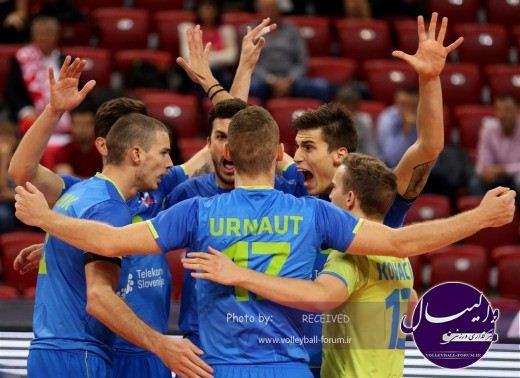 صحبتهای ستاره ی والیبال اسلوونی بعد از برد مقابل لهستان