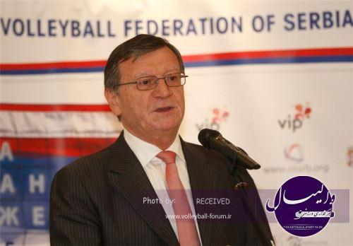 بوریچیچ رئیس کنفدراسیون والیبال اروپا شد